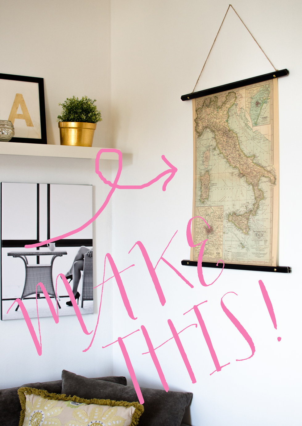 Diy scroll style picture frames house of jade interiors blog for Diy hanging picture display