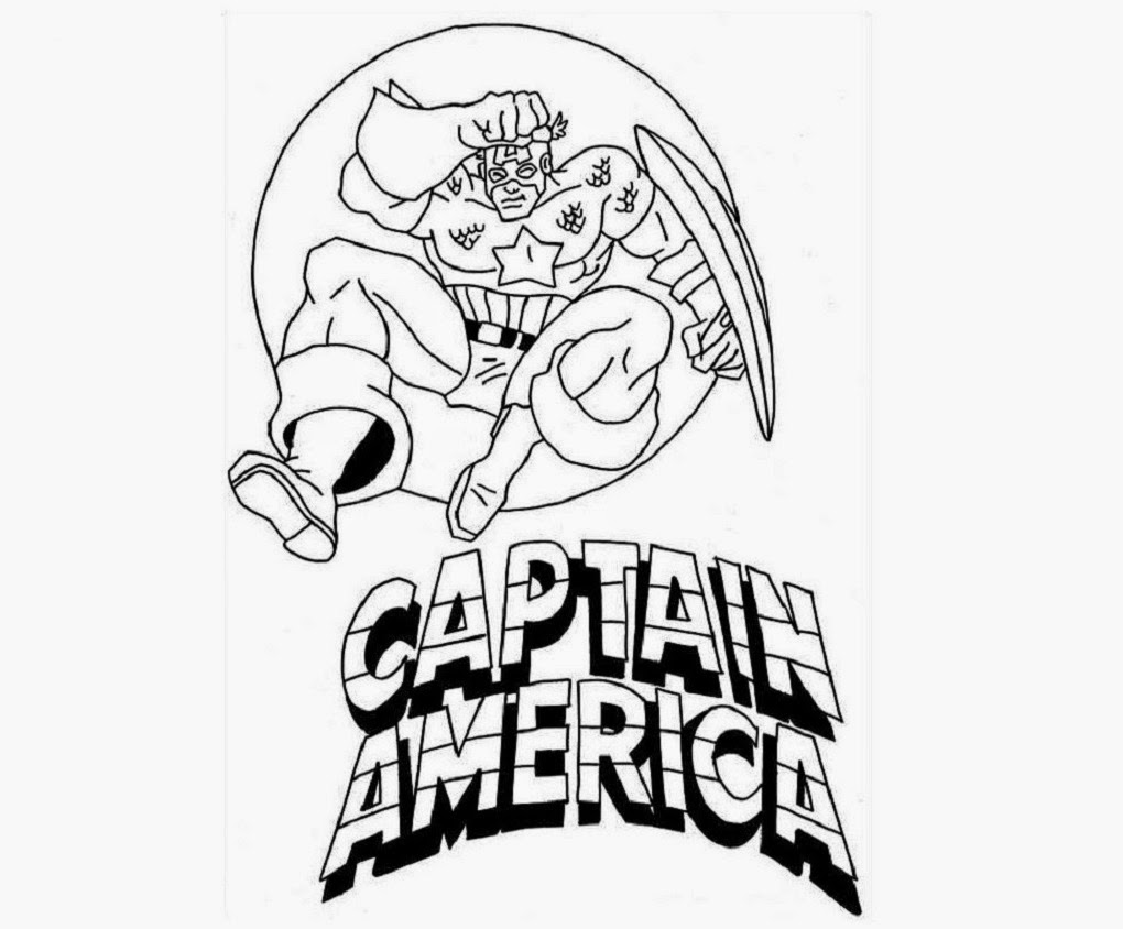 Captain America For Kid Coloring Drawing Free wallpaper