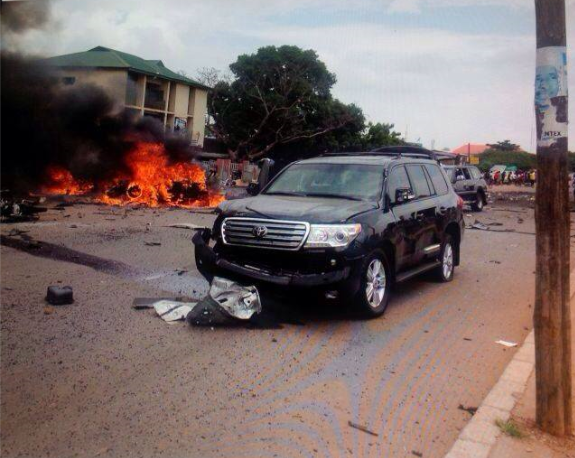 [PHOTOS] General Muhammadu Buhari Targeted In Double Explosions That Rocked The City Of Kaduna Today