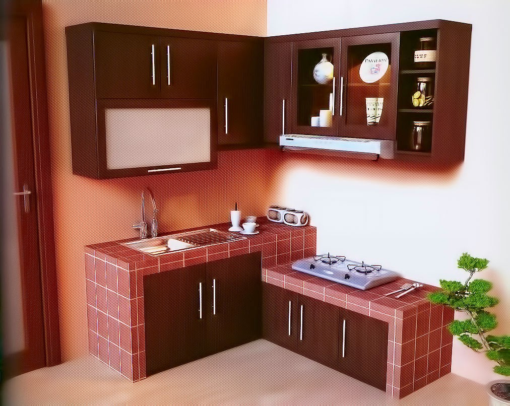 Dapur minimalis modern ukuran 3x3 terbaru 2018 1001 for Model kitchen design