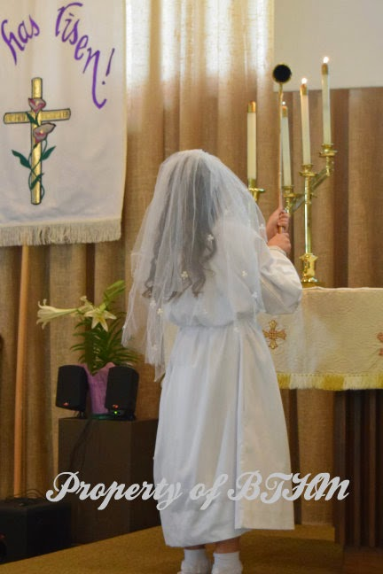 miss grace first communion acolyte