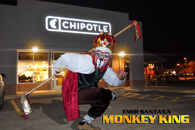 DJ Emir Halloween Costume The Monkey King at Chipotle