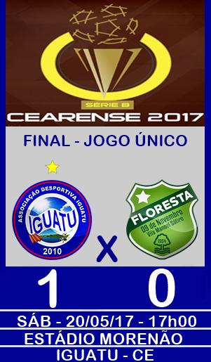 IGUATU 1x0 FLORESTA - ESTÁDIO MORENÃO