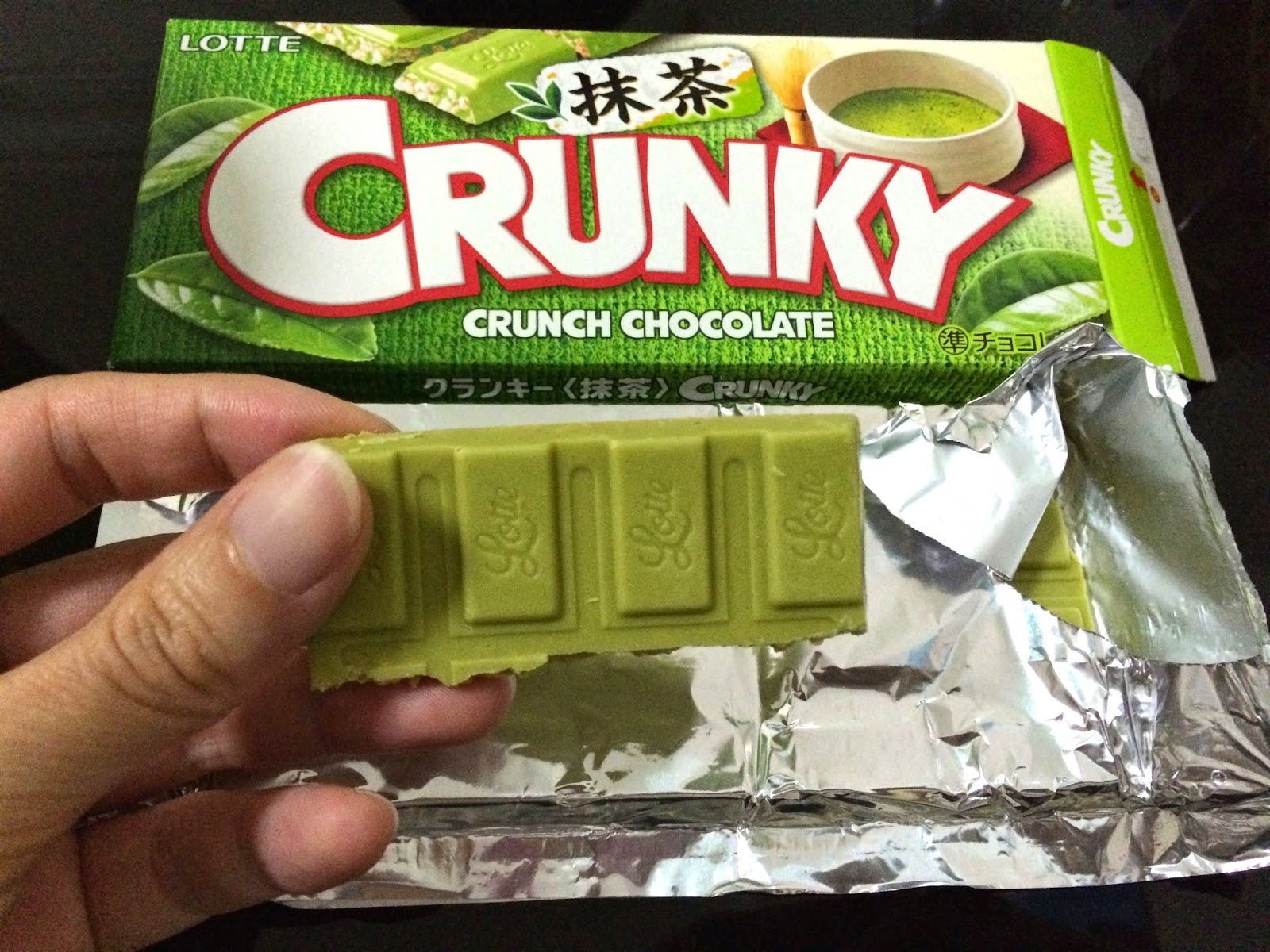 japanese matcha snack sweets japan crunky crunch chocolate