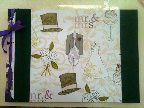 Libro de firmas para boda MR y MRS