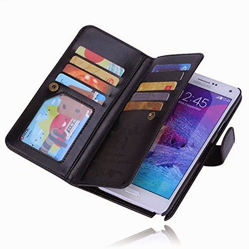 Elonbo TM Leather Wallet for Samsung Galaxy Note 4