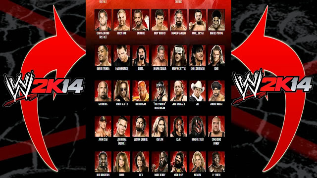 WWE 2K14 roster