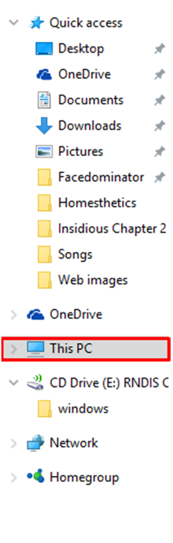 options in windows 10 to show hidden files