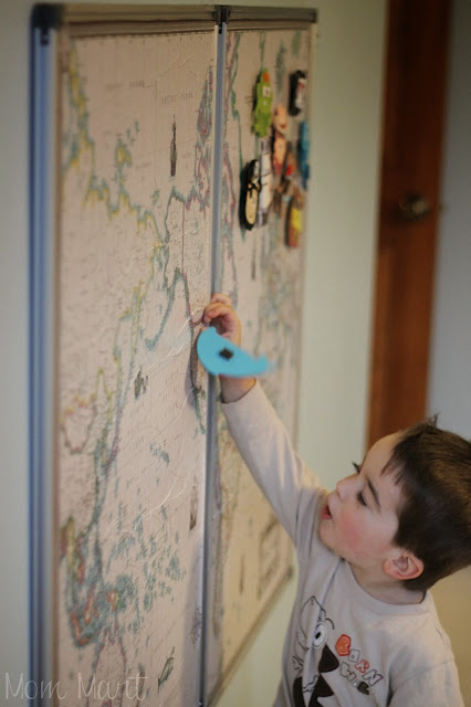 How to make an interactive world map wall art #DIY #Magnetic #WorldMap