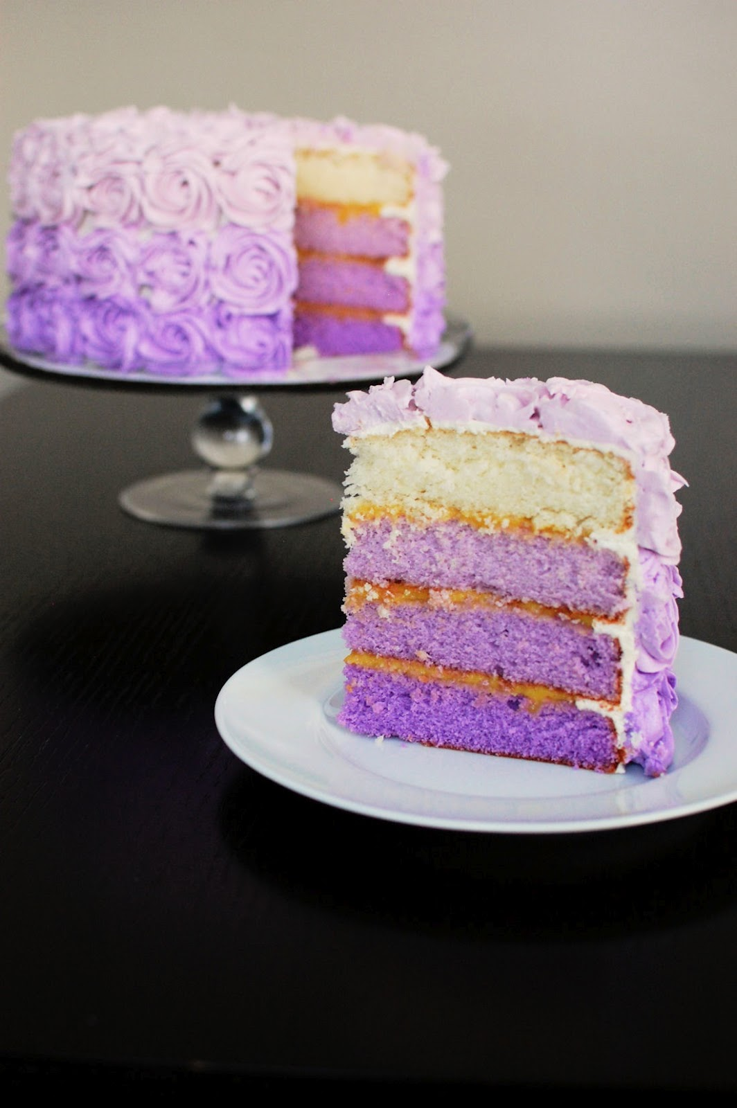 Layer Blue Gradient Cake