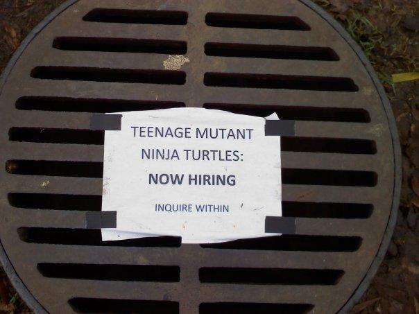 TMNT Hiring , funny signs