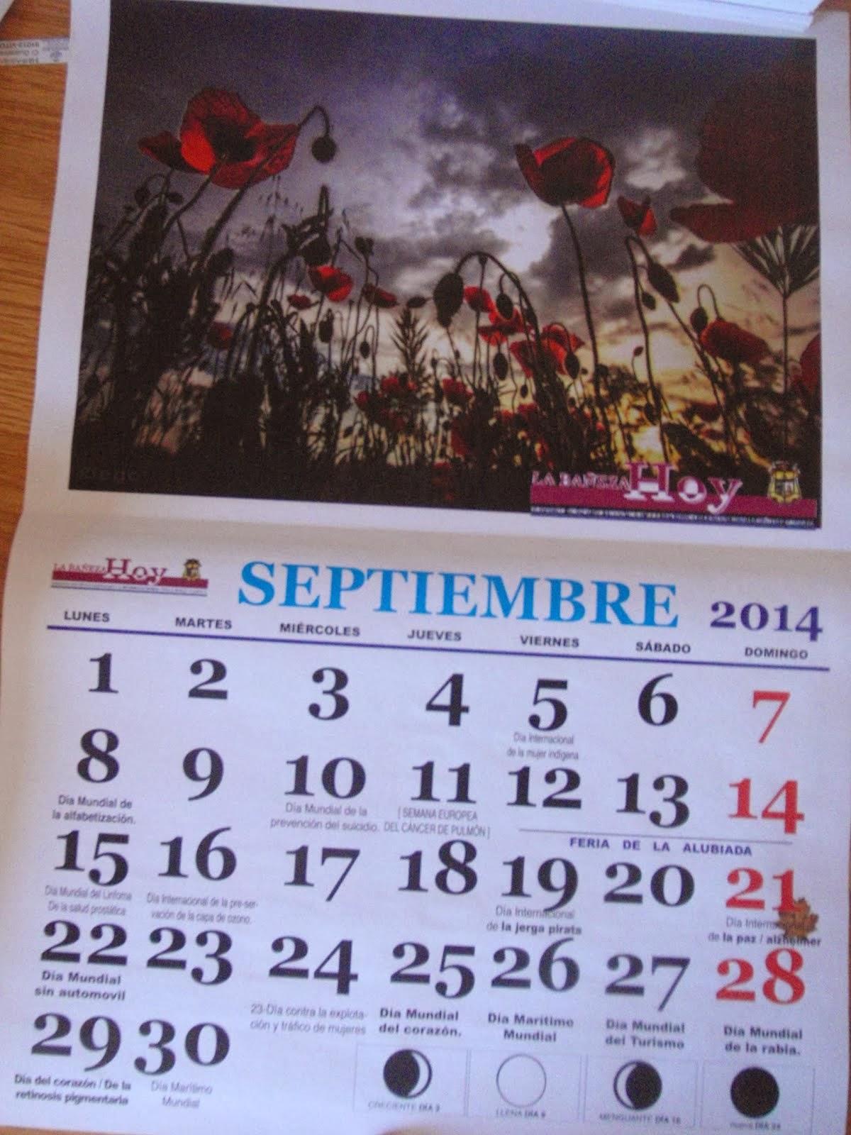 Calendarios de los Días Mundiales 2012, 2013, 2014, 2015   A-GO-TA-DOS