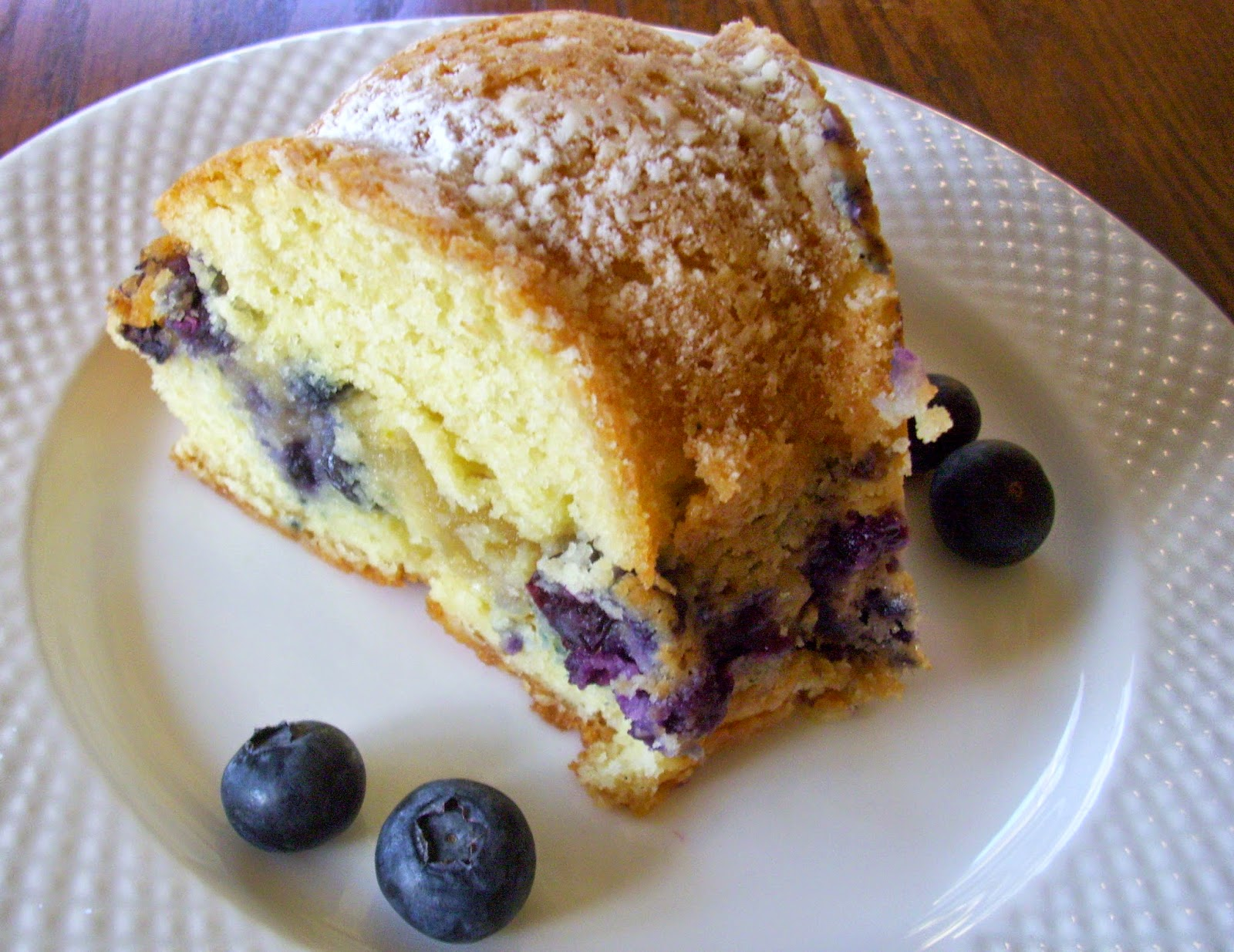 Flavors by Four: Blueberry Almond Sour Cream Coffee Cake