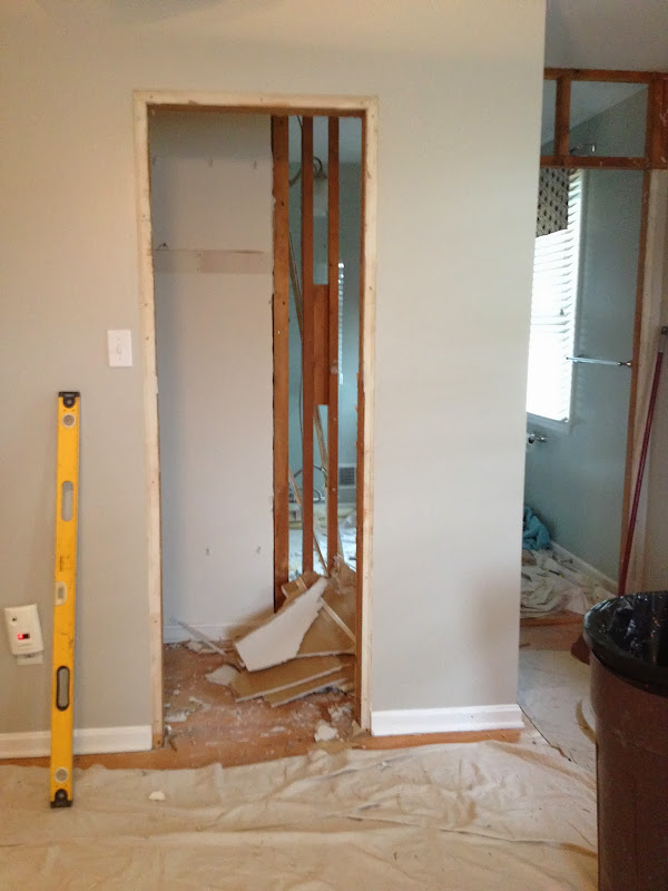 Here you can see how part of old closet was taken for the bathroom  title=