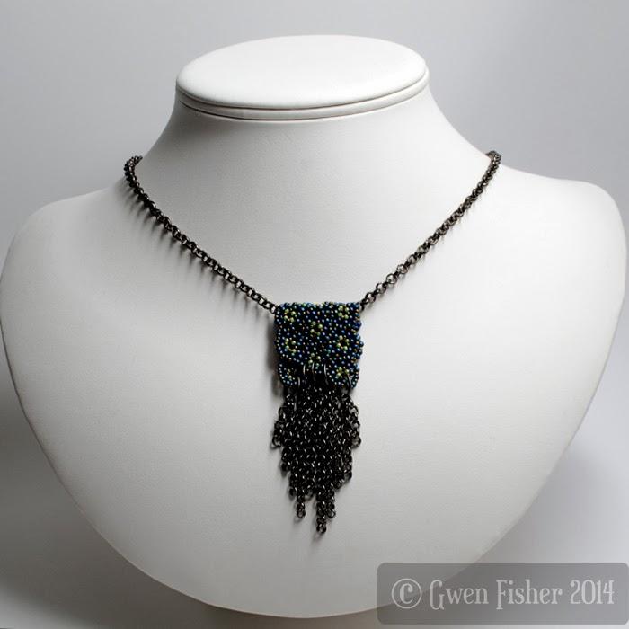 Lozenge Pendant Necklace with Chain