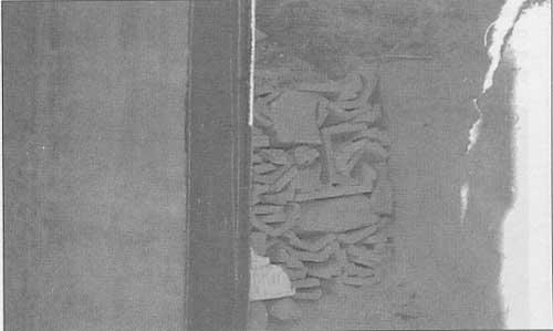 Mala ejecución del drenaje de un muro de cimentación