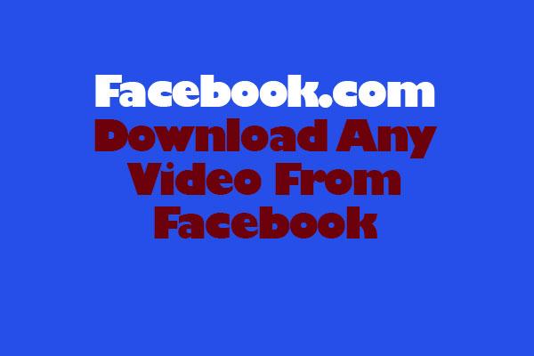 fb video download online