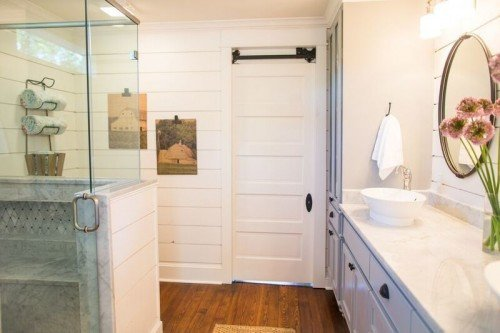 Jessica stout design as seen on fixer upper the nut house for 3 way bathroom designs