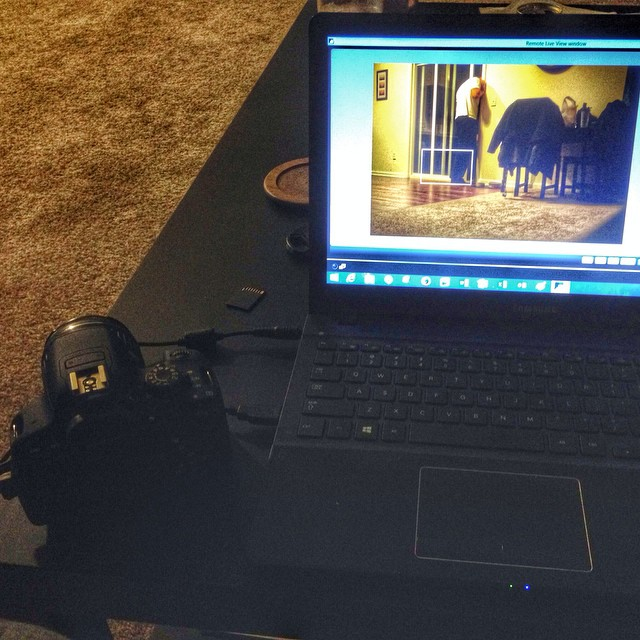 camera hooked up to laptop