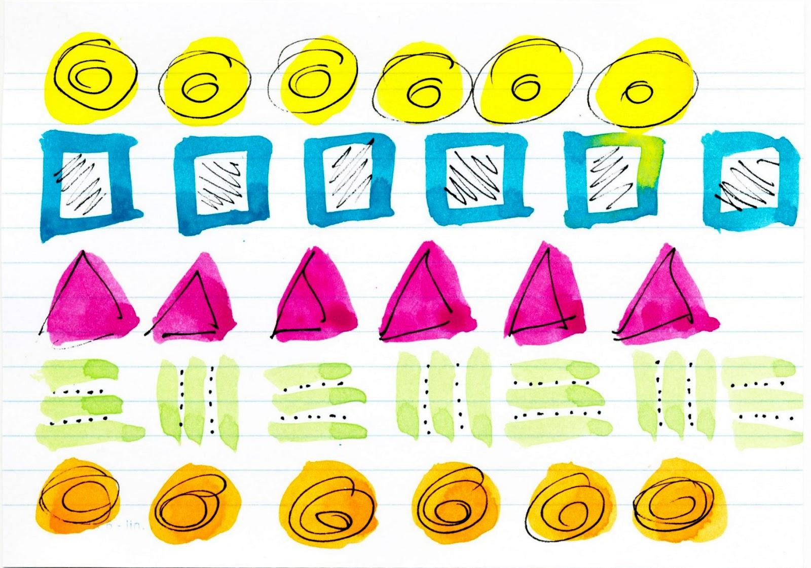 Muster mit Wasserfarben