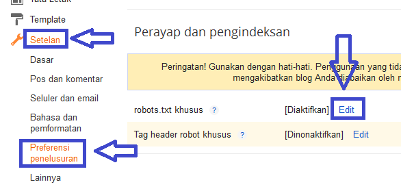 Pemasangan robots.txt twitterbot