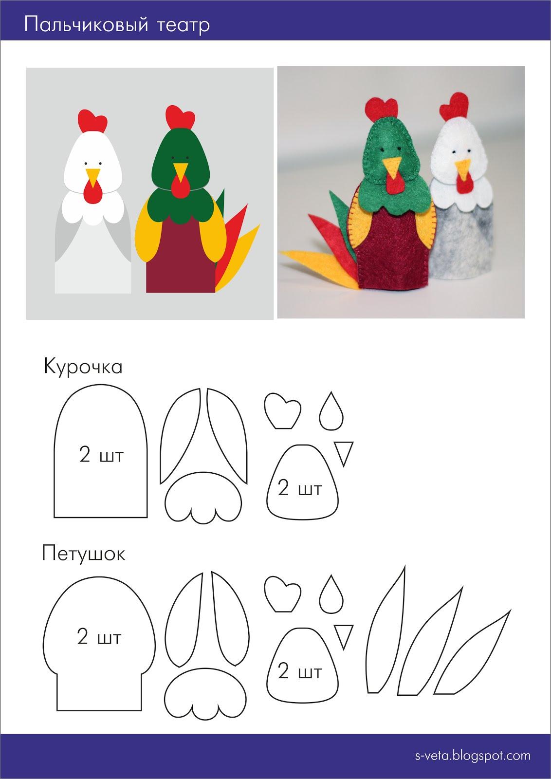 Шаблоны пальчиковых кукол из фетра своими руками 79