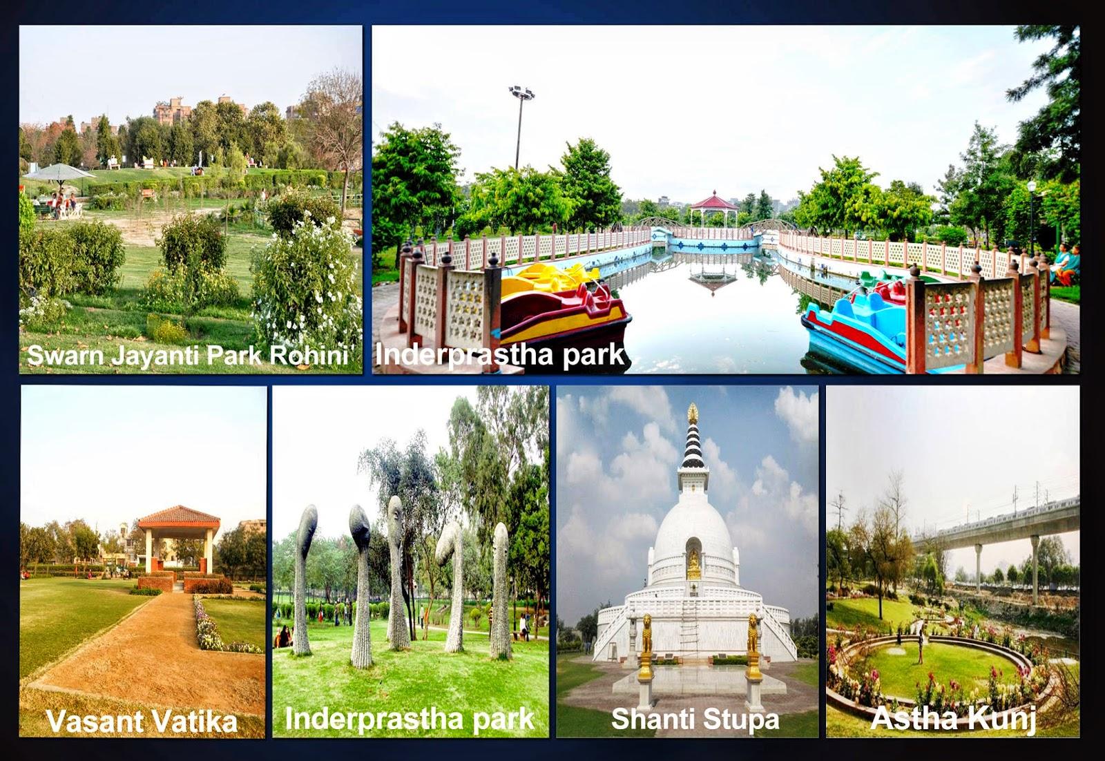 swawrn jayanti park and aastha kunj