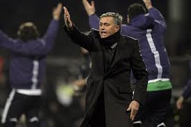 Mourinho at Gerland Stadium