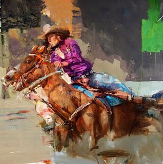 Mujer Vaquera Pintura Moderna