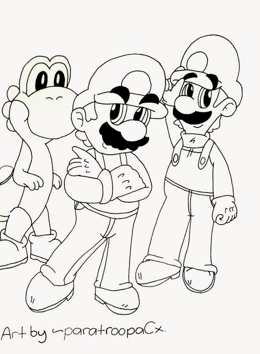Disegni da colorare mario bros for Disegni da colorare super mario bros