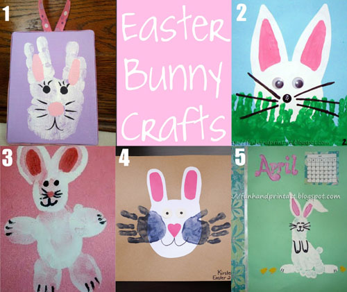 Handprint &amp; Thumbprint Easter Crafts