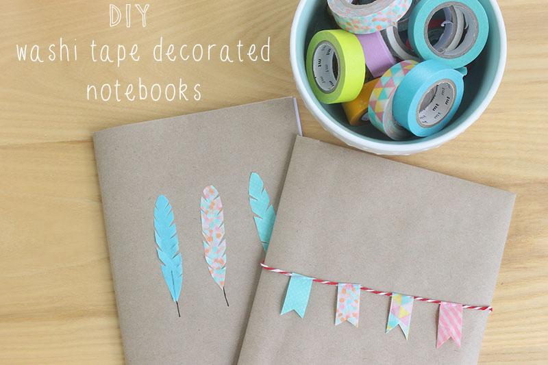 Diy Washi Tape harri wren: diy // washi tape decorated notebooks