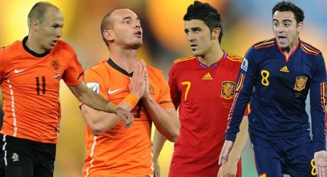 مشاهدة مباراة اسبانيا وهولندا كاس العالم اليوم 13-6-2014 Spain vs Netherlands بث مباشر