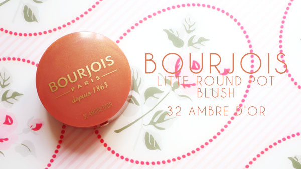 Bourjois Little Round Pot Blush 32 Ambre D'or