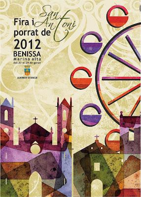 Cartell Fira i Porrat Benissa 2012