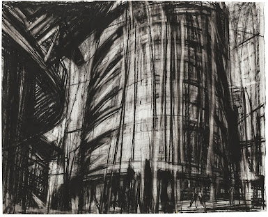 First of May Fragment / Charcoal / 50 x 35 cm / 2014