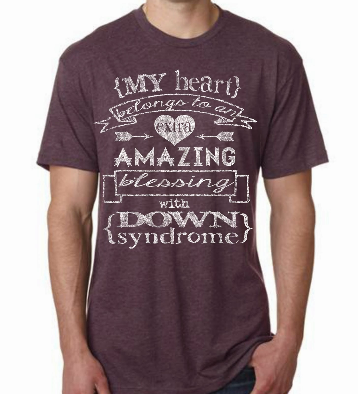 My Heart Belongs Vintage Purple Triblend T-shirt