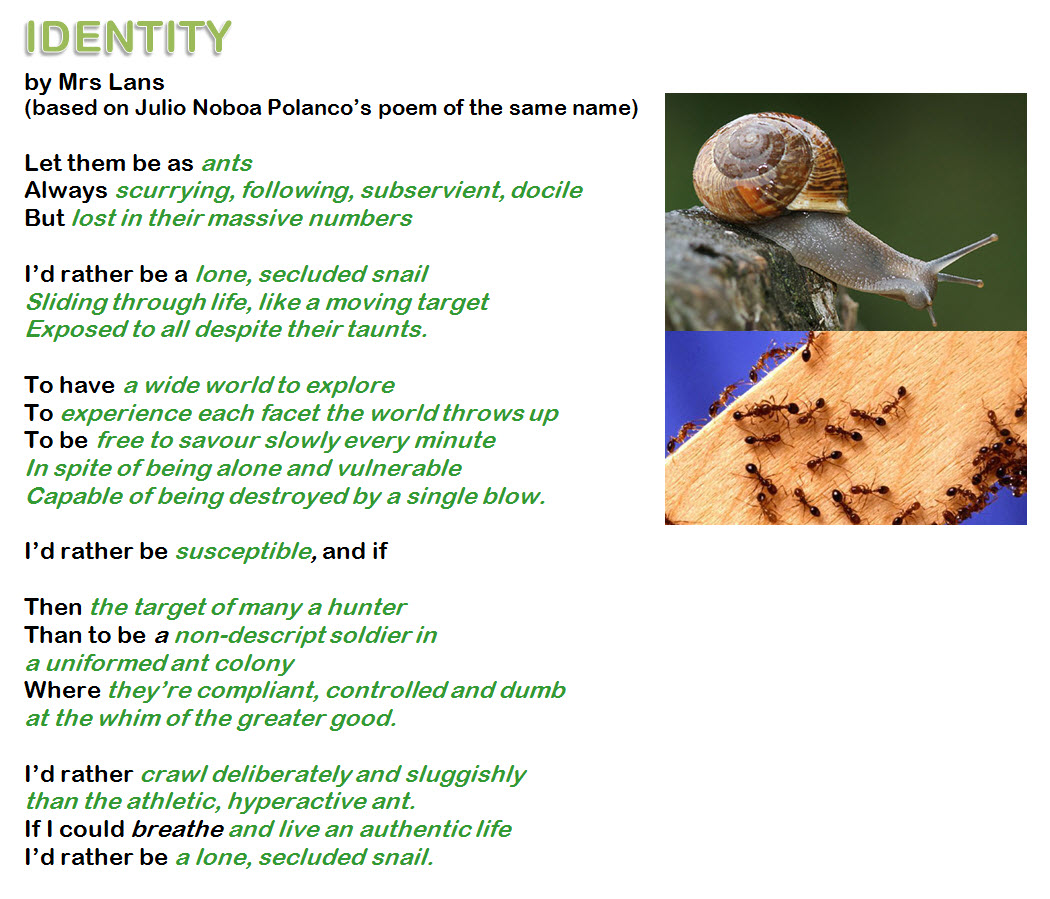 how to write an identity poem