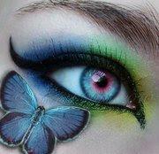 maquillaje de ojos de fantasia