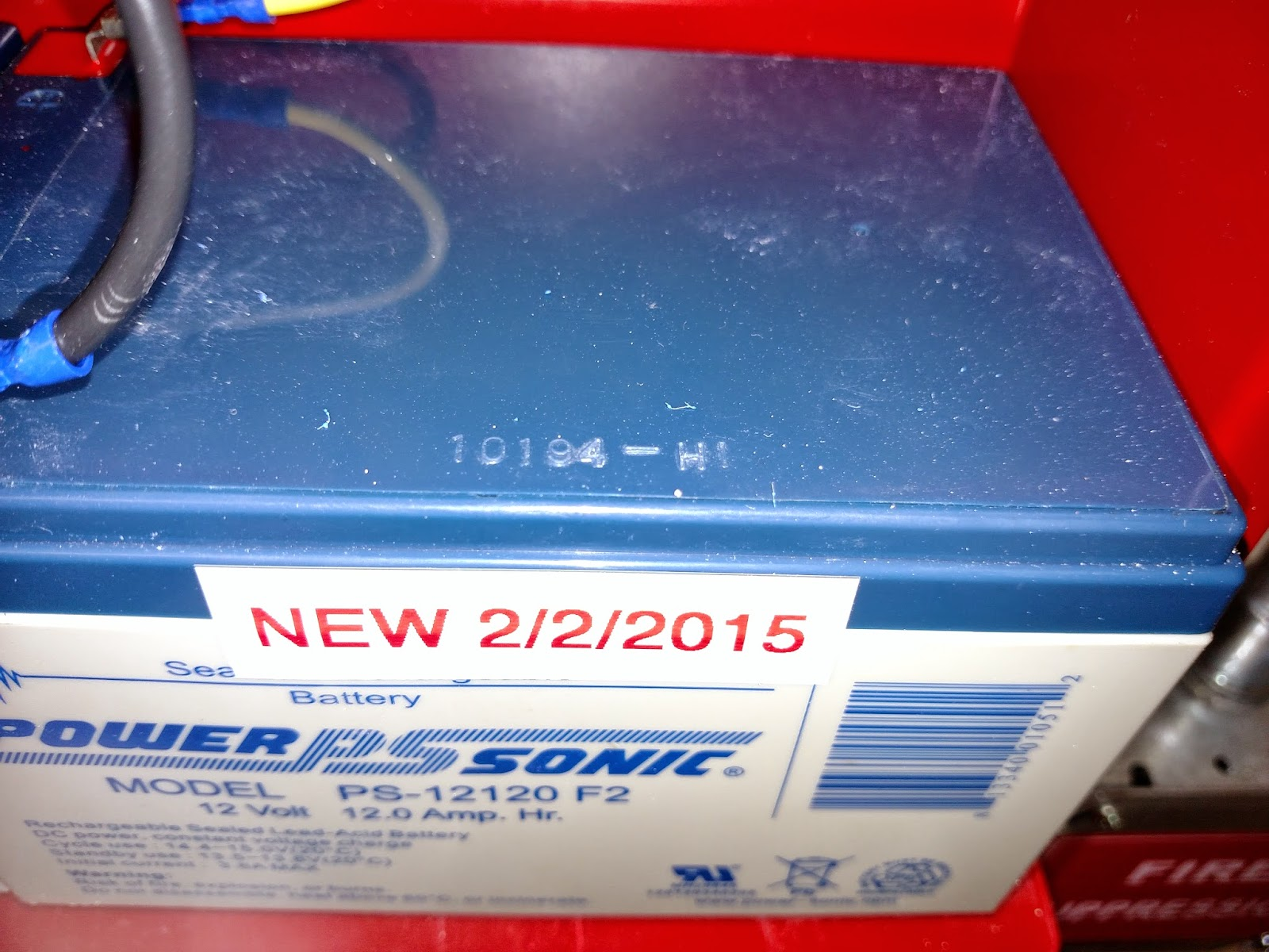 Fire Alarm Battery Dated Incorrectly