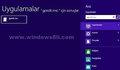 windows 8 mağaza etkinleştirme