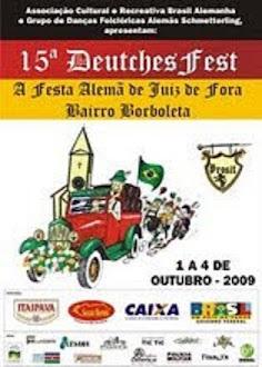 CARTAZ DA FESTA ALEMÃ DE 2009