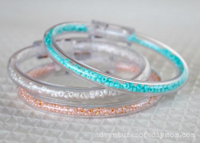 Clear Tube Seed Bead Bracelets
