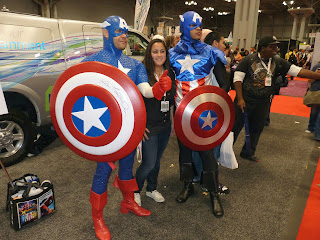Comic Con 2012 by MK Metz, 2 Captain Americas