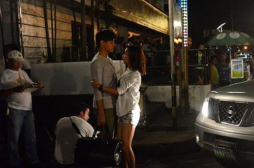 Kathryn Bernardo and Daniel Padilla (KathNiel) shoot She's Dating the Gangster in Legazpi City, Albay