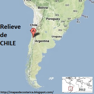 Mapa de Relieve de CHILE, Google Maps