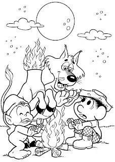 Desenho para colorir - Folclore - Turma da Mônica