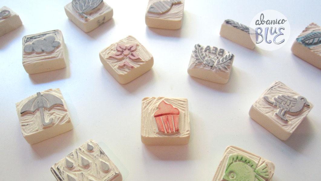 Abanico blue sellos caseros muy chulos for Como hacer sellos