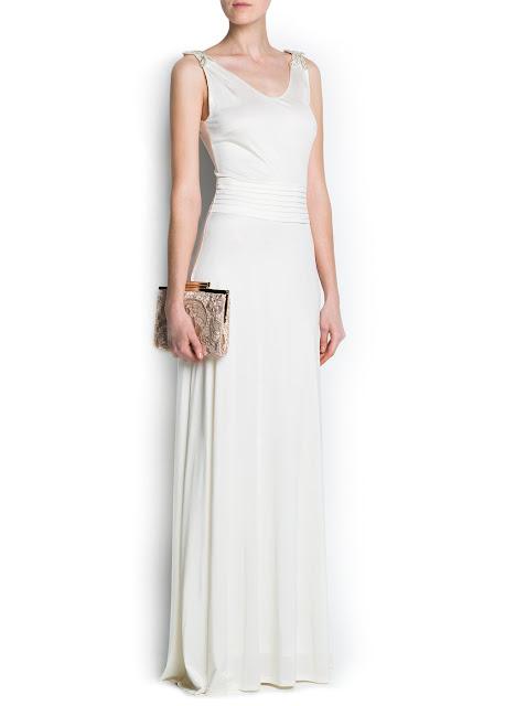 shoulder applique gown