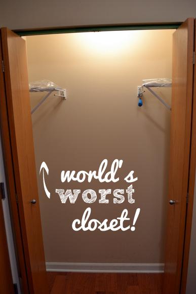 World's worst closet (unofficially)